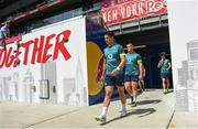 9 June 2017; Ireland's Joey Carbery during their captains run at the Red Bull Arena in Harrison, New Jersey, USA. Photo by Ramsey Cardy/Sportsfile