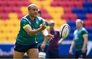 9 June 2017; Ireland's Simon Zebo during their captains run at the Red Bull Arena in Harrison, New Jersey, USA. Photo by Ramsey Cardy/Sportsfile