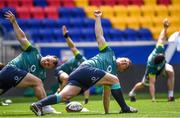 9 June 2017; Ireland's Cian Healy, left, and John Ryan during their captains run at the Red Bull Arena in Harrison, New Jersey, USA. Photo by Ramsey Cardy/Sportsfile