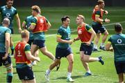 9 June 2017; Ireland's Joey Carbery, centre, alongside his teammates during their captains run at the Red Bull Arena in Harrison, New Jersey, USA. Photo by Ramsey Cardy/Sportsfile