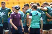 9 June 2017; Ireland head coach Joe Schmidt during their captains run at the Red Bull Arena in Harrison, New Jersey, USA. Photo by Ramsey Cardy/Sportsfile