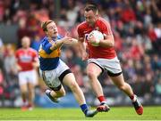 10 June 2017; Paul Kerrigan of Cork in action against Brian Fox of Tipperary during the Munster GAA Football Senior Championship Semi-Final match between Cork and Tipperary at Pairc Ui Rinn in Cork. Photo by Matt Browne/Sportsfile