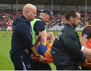 10 June 2017; Michael Quinlivan of Tipperary leaves the pitch injured during the Munster GAA Football Senior Championship Semi-Final match between Cork and Tipperary at Pairc Ui Rinn in Cork. Photo by Matt Browne/Sportsfile