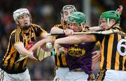 10 June 2017; Harry Kehoe of Wexford in action against Kilkenny players, left to right, Lester Ryan, Conor Fogarty, and Paul Murphy, during the Leinster GAA Hurling Senior Championship Semi-Final match between Wexford and Kilkenny at Wexford Park in Wexford. Photo by Daire Brennan/Sportsfile