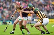 10 June 2017; Harry Kehoe of Wexford in action against Paul Murphy, right, and Cillian Buckley of Kilkenny during the Leinster GAA Hurling Senior Championship Semi-Final match between Wexford and Kilkenny at Wexford Park in Wexford. Photo by Ray McManus/Sportsfile
