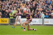 10 June 2017; Lee Chin of Wexford celebrates near the end of the Leinster GAA Hurling Senior Championship Semi-Final match between Wexford and Kilkenny at Wexford Park in Wexford. Photo by Daire Brennan/Sportsfile