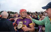 10 June 2017; Lee Chin of Wexford celebrates at the end of the Leinster GAA Hurling Senior Championship Semi-Final match between Wexford and Kilkenny at Wexford Park in Wexford. Photo by Daire Brennan/Sportsfile