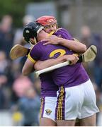 10 June 2017; Lee Chin, right, and Shane Tomkins of Wexford celebrate at the end of the Leinster GAA Hurling Senior Championship Semi-Final match between Wexford and Kilkenny at Wexford Park in Wexford. Photo by Daire Brennan/Sportsfile