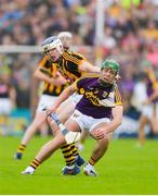 10 June 2017; Aidan Nolan of Wexford in action against TJ Reid of Kilkenny during the Leinster GAA Hurling Senior Championship Semi-Final match between Wexford and Kilkenny at Wexford Park in Wexford. Photo by Daire Brennan/Sportsfile