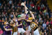 10 June 2017; Wexford players, left to right, Simon Donoghue, Shaun Murphy, and Liam Ryan in action against Richie Hogan, left, and Colin Fennelly of Kilkenny during the Leinster GAA Hurling Senior Championship Semi-Final match between Wexford and Kilkenny at Wexford Park in Wexford. Photo by Daire Brennan/Sportsfile