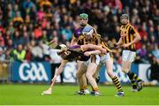 10 June 2017; James Breen of Wexford in action against TJ Reid of Kilkenny during the Leinster GAA Hurling Senior Championship Semi-Final match between Wexford and Kilkenny at Wexford Park in Wexford. Photo by Daire Brennan/Sportsfile