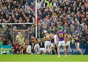 10 June 2017; Wexford players and supporters celebrate after David Redmond of Wexford scored his side's first goal during the Leinster GAA Hurling Senior Championship Semi-Final match between Wexford and Kilkenny at Wexford Park in Wexford. Photo by Daire Brennan/Sportsfile