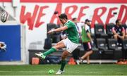 10 June 2017; Joey Carbery of Ireland kicks a conversion during the international match between Ireland and USA at the Red Bull Arena in Harrison, New Jersey, USA. Photo by Ramsey Cardy/Sportsfile