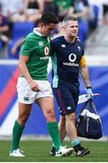 10 June 2017; Joey Carbery of Ireland leaves the pitch with an injury during the international match between Ireland and USA at the Red Bull Arena in Harrison, New Jersey, USA. Photo by Ramsey Cardy/Sportsfile