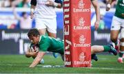 10 June 2017; Luke McGrath of Ireland goes over to score his side's eight try during the international match between Ireland and USA at the Red Bull Arena in Harrison, New Jersey, USA. Photo by Ramsey Cardy/Sportsfile