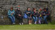 11 June 2017; Mayo supporters, left to right, Agnes O'Hoare, Emma O'Hoare, Frances Reid, Laoise McGowan, aged 9, Méabh McGowan, aged 5, and Karen McGowan, from Ballina and Knockmore, Co Mayo, eat their lunch ahead of the Connacht GAA Football Senior Championship Semi-Final match between Galway and Mayo at Pearse Stadium, in Salthill, Galway. Photo by Daire Brennan/Sportsfile