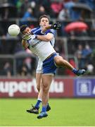 11 June 2017; Gearoid McKiernan of Cavan in action against Neil McAdam of Monaghan during the Ulster GAA Football Senior Championship Quarter-Final match between Cavan and Monaghan at Kingspan Breffni, in Cavan. Photo by Oliver McVeigh/Sportsfile