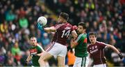 11 June 2017; Damien Comer of Galway in action against Ger Cafferkey of Mayo during the Connacht GAA Football Senior Championship Semi-Final match between Galway and Mayo at Pearse Stadium, in Salthill, Galway. Photo by Daire Brennan/Sportsfile