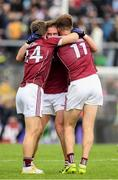 11 June 2017; Galway players Gary O'Donnell, Michael Lundy, left, and Paul Conroy, 11, celebrate victory after the Connacht GAA Football Senior Championship Semi-Final match between Galway and Mayo at Pearse Stadium, in Salthill, Galway. Photo by Ray McManus/Sportsfile