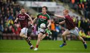 11 June 2017; Donal Vaughan of Mayo in action against Gary Sice, left, and Declan Kyne of Galway during the Connacht GAA Football Senior Championship Semi-Final match between Galway and Mayo at Pearse Stadium, in Salthill, Galway. Photo by Daire Brennan/Sportsfile