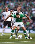 11 June 2017; Wes Hoolahan of Republic of Ireland in action against Martin Hinteregger of Austria during the FIFA World Cup Qualifier Group D match between Republic of Ireland and Austria at Aviva Stadium, in Dublin.  Photo by Seb Daly/Sportsfile
