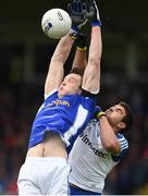 11 June 2017; Gearoid McKiernan of Cavan in action against Drew Wylie of Monaghan  during the Ulster GAA Football Senior Championship Quarter-Final match between Cavan and Monaghan at Kingspan Breffni, in Cavan. Photo by Oliver McVeigh/Sportsfile