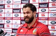 12 June 2017; British & Irish Lions defence coach Andy Farrell during a press conference at the Scenic Hotel Southern Cross in Dunedin, New Zealand. Photo by Stephen McCarthy/Sportsfile