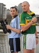 "25 January 2012; Starting with Dublin v Kerry on the 4th of February, Setanta Sports will be broadcasting 14 Allianz Leagues matches this coming season. Dublin's Alan Brogan, left, and Kerry's Kieran Donaghy, were in Dublin today at the launch of the 2012 schedule, which also includes a new 6 part documentary ""The Club"" which follows the fortunes of the Round Towers ladies football club over a season. Setanta Sports also announced that Paul Galvin will appear on two episodes of iTalkSport on February 5th and 12th. Setanta Sports Launch 2012 Allianz National Leagues Coverage, Sean O'Casey Bridge, Custom House Quay, Dublin. Picture credit: Barry Cregg / SPORTSFILE"