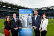 12 June 2017; In attendance at the launch of Make A Wish Ireland as one of the Official GAA Charities are, from left, Susan O'Dwyer, Chief Executive Officer, Uachtarán Chumann Lúthchleas Aogán Ó Fearghail, Gareth Crowe, Head of Corporate, and Niamh Ryan, Marketing Executive, during the GAA Charities 2017 Launch at Croke Park in Dublin. Photo by Piaras Ó Mídheach/Sportsfile