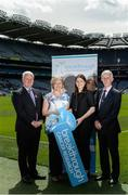 12 June 2017; In attendance at the launch of Breakthrough Cancer Research as one of the Official GAA Charities are, from left, Uachtarán Chumann Lúthchleas Aogán Ó Fearghail, Dr Sharon McKenna, Breakthrough Cancer Research Researcher, Jill Lyons, Communications & Marketing Manager at Breakthrough Cancer Research, and Seamus Carr, Breakthrough Cancer Research Supporter, during the GAA Charities 2017 Launch at Croke Park in Dublin. Photo by Piaras Ó Mídheach/Sportsfile
