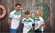 12 June 2017; Fergal Kieran from Culloville, Co Armagh, pictured with Donegal's Rory Kavanagh and Monaghan's Eimear McAnespie after participating in the boys football competition at the John West Skills Day in the National Sports Campus on Saturday 10th June. The Skills Day is an opportunity for Ireland's rising football, hurling & camogie stars to show their skills ahead of the John West Féile na nÓg and John West Féile na nGael competitions. At Abbottstown in Dublin. Photo by Cody Glenn/Sportsfile