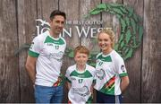 12 June 2017; Paul Downey from Foreglen GAC, Co Derry, pictured with Donegal's Rory Kavanagh and Monaghan's Eimear McAnespie after participating in the boys football competition at the John West Skills Day in the National Sports Campus on Saturday 10th June. The Skills Day is an opportunity for Ireland's rising football, hurling & camogie stars to show their skills ahead of the John West Féile na nÓg and John West Féile na nGael competitions. At Abbottstown in Dublin. Photo by Cody Glenn/Sportsfile