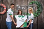 12 June 2017; Cailín Raleigh from Killucan, Co Westmeath, pictured with Donegal's Rory Kavanagh and Monaghan's Eimear McAnespie after participating in the girls football competition at the John West Skills Day in the National Sports Campus on Saturday 10th June. The Skills Day is an opportunity for Ireland's rising football, hurling & camogie stars to show their skills ahead of the John West Féile na nÓg and John West Féile na nGael competitions. At Abbottstown in Dublin. Photo by Cody Glenn/Sportsfile