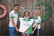 12 June 2017; Rachel O'Brien from Fenagh GAA Club, Co Carlow, pictured with Donegal's Rory Kavanagh and Monaghan's Eimear McAnespie after competing in the girls football competition at the John West Skills Day in the National Sports Campus on Saturday 10th June. The Skills Day is an opportunity for Ireland's rising football, hurling & camogie stars to show their skills ahead of the John West Féile na nÓg and John West Féile na nGael competitions. At Abbottstown in Dublin. Photo by Cody Glenn/Sportsfile
