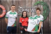 12 June 2017; Tara Monan from Ballygalget GAC, Co Down, pictured with Dublin's Liam Rushe and Carlow's Kate Nolan after participating in the camogie competition at the John West Skills Day in the National Sports Campus on Saturday 10th June. The Skills Day is an opportunity for Ireland's rising football, hurling & camogie stars to show their skills ahead of the John West Féile na nÓg and John West Féile na nGael competitions. At Abbottstown in Dublin.  Photo by Cody Glenn/Sportsfile
