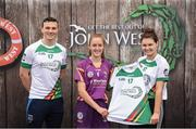 12 June 2017; Aoife O'Connor from St Martins GAA Club, Co Wexford, pictured with Dublin's Liam Rushe and Carlow's Kate Nolan after participating in the camogie competition at the John West Skills Day in the National Sports Campus on Saturday 10th June. The Skills Day is an opportunity for Ireland's rising football, hurling & camogie stars to show their skills ahead of the John West Féile na nÓg and John West Féile na nGael competitions. At Abbottstown in Dublin.  Photo by Cody Glenn/Sportsfile