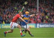 21 May 2017; John O'Dwyer of Tipperary in action against Stephen McDonnell of Cork during the Munster GAA Hurling Senior Championship Semi-Final match between Tipperary and Cork at Semple Stadium in Thurles, Co Tipperary. Photo by Brendan Moran/Sportsfile