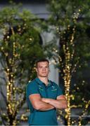 13 June 2017; Josh van der Flier of Ireland poses for a portrait after an Ireland Rugby Press Conference at Relo no Kaigishitsu in Tokyo, Japan. Photo by Brendan Moran/Sportsfile