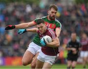 11 June 2017; Damien Comer of Galway in action against Aidan O'Shea of Mayo during the Connacht GAA Football Senior Championship Semi-Final match between Galway and Mayo at Pearse Stadium, in Salthill, Galway. Photo by Ray McManus/Sportsfile