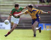 23 June 2002; Ray Connelly of Mayo of in action against Conor Connelly of Roscommon during the Bank of Ireland All-Ireland Senior Football Championship Qualifier Round 2 between Mayo and Roscommon at MacHale Park in Castlebar, Mayo. Photo by David Maher/Sportsfile