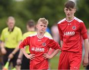 16 June 2017; Caelan Hunt, left, and Paul Mohan of Sligo-Leitrim after the SFAI Umbro Kennedy Cup Final match between Dublin District Schoolboys League and Sligo-Leitrim at the University of Limerick in Limerick. Photo by Matt Browne/Sportsfile