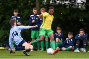 16 June 2017; Daniel Okwute of Kerry in action against Peadar O'Rourke of West Cork during the SFAI Umbro Kennedy Cup Shield Final match between Kerry and West Cork at the University of Limerick in Limerick. Photo by Matt Browne/Sportsfile