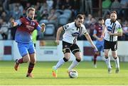16 June 2017; Robbie Benson of Dundalk in action against Ryan McEvoy of Drogheda United during the SSE Airtricity League Premier Division match between Drogheda United and Dundalk at United Park in Drogheda, Co. Louth. Photo by David Maher/Sportsfile