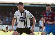 16 June 2017; Patrick McEleney of Dundalk in action against Killian Brennan of Drogheda United during the SSE Airtricity League Premier Division match between Drogheda United and Dundalk at United Park in Drogheda, Co. Louth. Photo by David Maher/Sportsfile