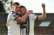 16 June 2017; David McMillan, right, of Dundalk celebrates after scoring his side's first goal with teammate Patrick McEleney during the SSE Airtricity League Premier Division match between Drogheda United and Dundalk at United Park in Drogheda, Co. Louth. Photo by David Maher/Sportsfile