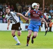 16 June 2017; Luke Gallagher of Drogheda United in action against David McMillan of Dundalk during the SSE Airtricity League Premier Division match between Drogheda United and Dundalk at United Park in Drogheda, Co. Louth. Photo by David Maher/Sportsfile