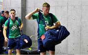 17 June 2017; John Cooney, left, and Josh van der Flier of Ireland arrive ahead of the international rugby match between Japan and Ireland at the Shizuoka Epoca Stadium in Fukuroi, Shizuoka Prefecture, Japan. Photo by Brendan Moran/Sportsfile