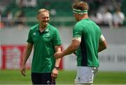 17 June 2017; Ireland head coach Joe Schmidt, left, with Josh van der Flier ahead of the international rugby match between Japan and Ireland at the Shizuoka Epoca Stadium in Fukuroi, Shizuoka Prefecture, Japan. Photo by Brendan Moran/Sportsfile