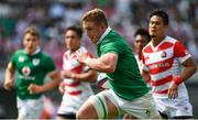 17 June 2017; Dan Leavy of Ireland runs through to score his side's third try during the international rugby match between Japan and Ireland at the Shizuoka Epoca Stadium in Fukuroi, Shizuoka Prefecture, Japan. Photo by Brendan Moran/Sportsfile