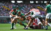 17 June 2017; Dan Leavy of Ireland scores his side's second try during the international rugby match between Japan and Ireland at the Shizuoka Epoca Stadium in Fukuroi, Shizuoka Prefecture, Japan. Photo by Brendan Moran/Sportsfile